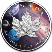 Canada MILKY WAY CANADIAN MAPLE LEAF $5 Dollars 2019 Silver Coin 1 oz